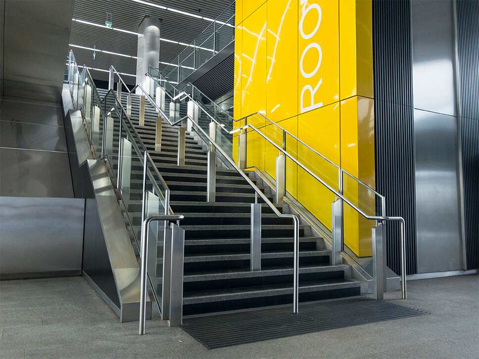 Feature Balustrade for Crossrail – Canary Wharf